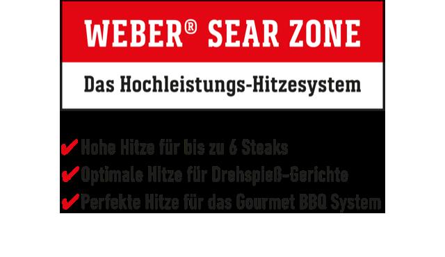 Weber Sear Zone Grafik Vorteile